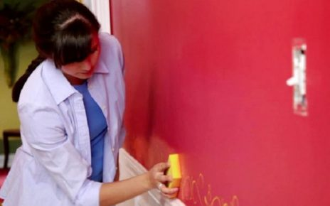 how to paint over a dark color wall