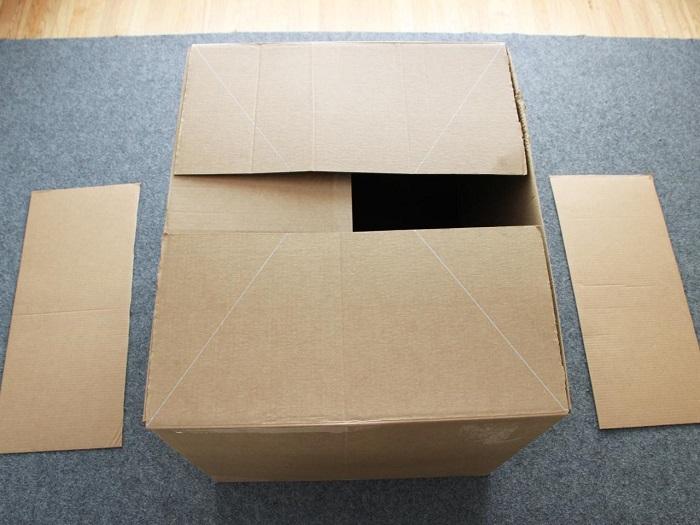 How to waterproof cardboard