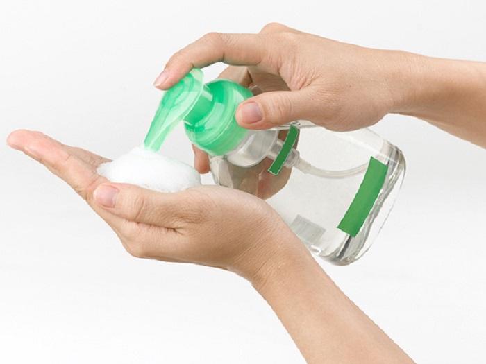 wash your hands with antibacterial gel