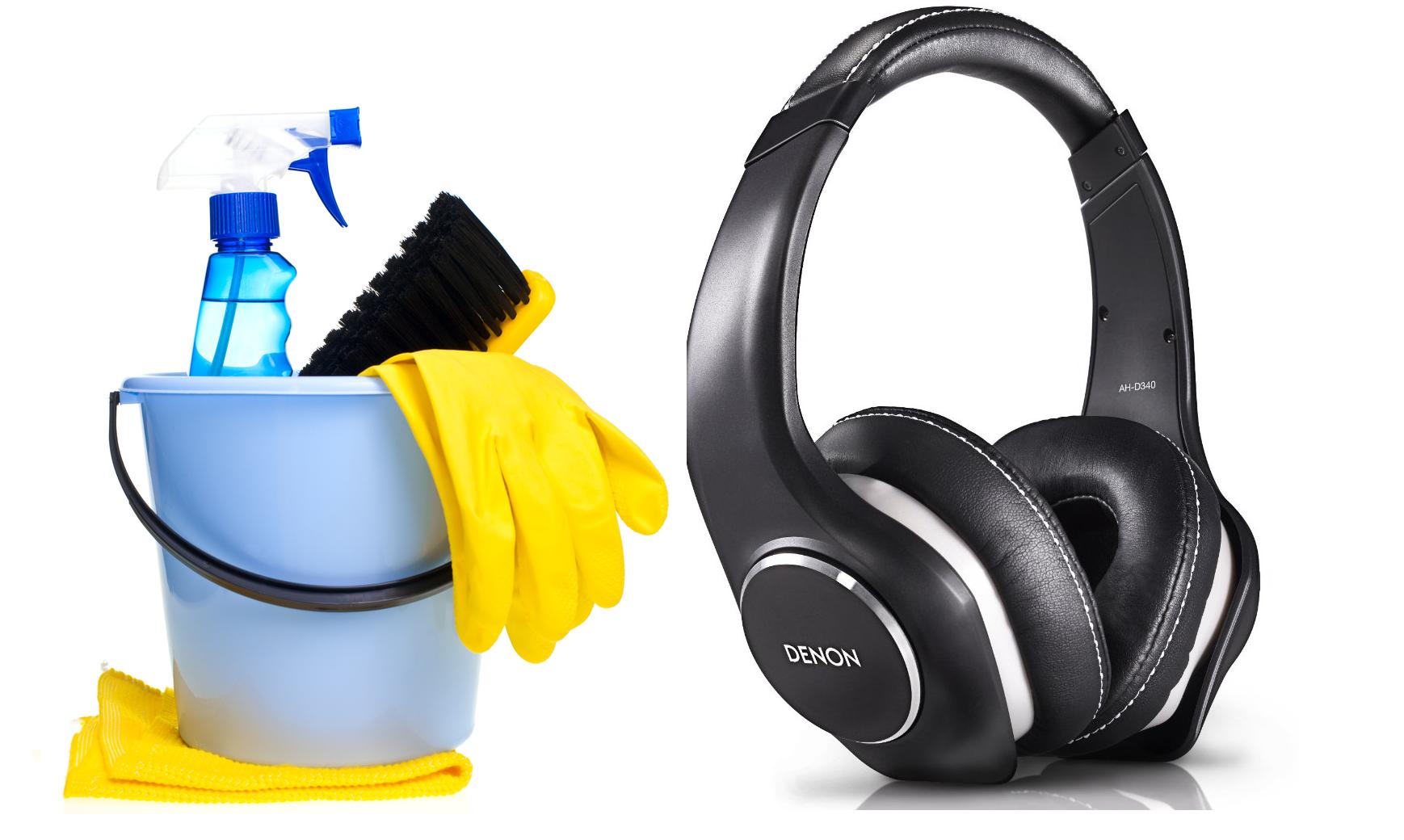 How to clean headphones