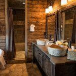 Rustic wood bathroom